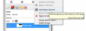 Screenshot of rightclick menu
