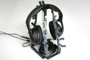 Headphone stand made with Lego Technics